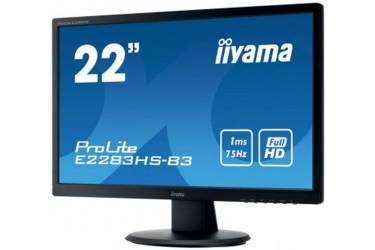 "Монитор Iiyama 21.5"" ProLite E2283HS-B3 черный TN+film LED 1ms 16:9 HDMI M/M матовая 1000:1 250cd 170гр/160гр 1920x1080 D-Sub DisplayPort FHD"
