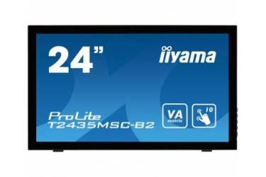 "Монитор Iiyama 24"" ProLite T2435MSC-B2 черный VA LED 8ms 16:9 DVI HDMI M/M Cam матовая 250cd 178гр/178гр 1920x1080 D-Sub DisplayPort FHD USB Touch 5.8кг"