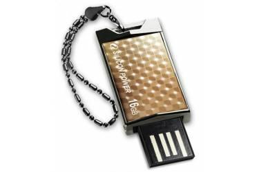 USB флэш-накопитель 8GB Silicon Power Touch 851 золотистый USB2.0