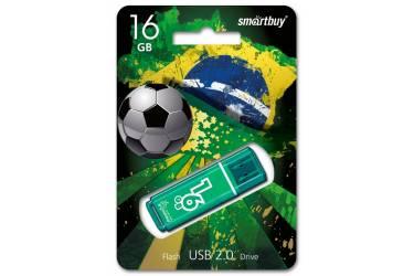 USB флэш-накопитель 16Gb SmartBuy Glossy series зеленый USB2.0