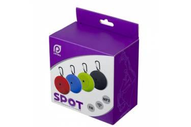 Беспроводная (bluetooth) акустика Perfeo SPOT FM, MP3 microSD, AUX, мощность 3Вт, 500mAh, красная