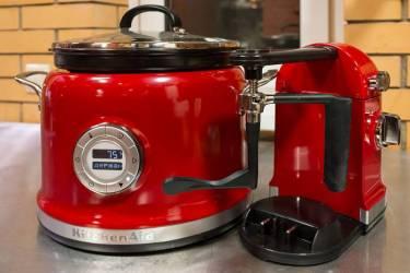Мультиварка KitchenAid 5KMC4244 4.25л 750Вт черный/красный