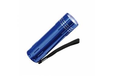 Фонарь Uniel S-LD010-C Blue алюм корпус 9 LED 3хААА н/к синий