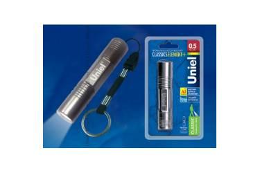 Фонарь Uniel S-LD014-C Gun Metal алюм корпус 0,5 Watt Led 1хАА н/к графитовый