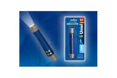 Фонарь Uniel S-LD013-CB Blue алюм корпус 0,5 Watt LED 3хLR44 в/к синий