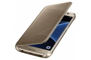 Оригинальный чехол (флип-кейс) для Samsung Galaxy S7 Clear View Cover золотистый (EF-ZG930CFEGRU)