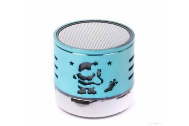 Беспроводная (bluetooth) акустика L4 голубая