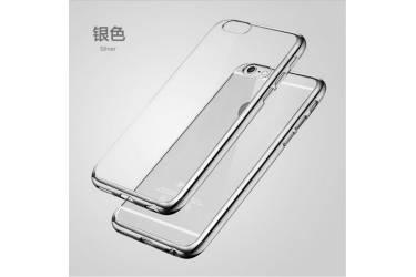 Силиконовый чехол Samsung SM-G950 Galaxy S8 с Серебристой зеркальной рамкой