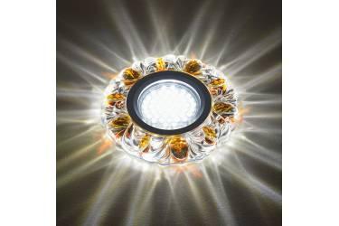 Светильник точечный Uniel DLS-L136 GU5.3 GLASSY/GOLD без лампы