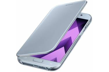 Оригинальный чехол (флип-кейс) для Samsung Galaxy A7 (2017) Clear View Cover голубой (EF-ZA720CLEGRU)