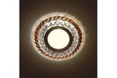 Светильник точечный Uniel DLS-L132 GU5.3 CHROME/BROWN без лампы