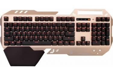 Клавиатура A4 Bloody B860 механическая золотистый/черный USB Multimedia Gamer LED (подставка для запястий)