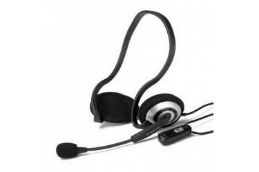 Наушники с микрофоном Creative HS-390 серебристый/черный 2.5м накладные шейный обод (51MZ0305AA005)