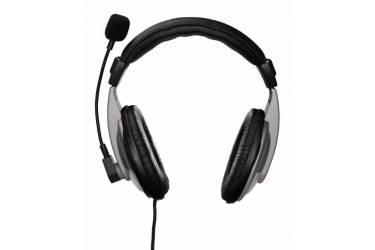 Наушники с микрофоном Hama AH-100 черный/серебристый 2м мониторы оголовье (00053994)