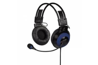 Наушники с микрофоном Hama uRage Vibra черный/синий 2.5м накладные оголовье (00113721)