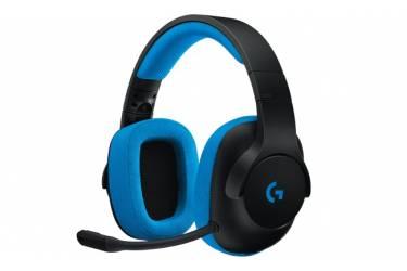 Наушники с микрофоном Logitech G233 Prodigy черный/синий 1.5м мониторы оголовье (981-000703)
