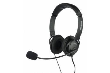 Наушники с микрофоном Oklick HS-M133V черный 1.8м накладные оголовье