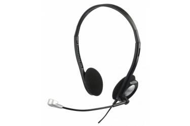 Наушники с микрофоном Oklick HS-M142V черный/серебристый 1.8м накладные оголовье