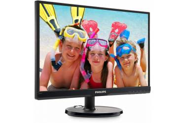 "Монитор Philips 21.5"" 226V6QSB6 (01/10) черный IPS LED 5ms 16:9 DVI матовая 250cd 1920x1080 D-Sub FHD 2.5кг"