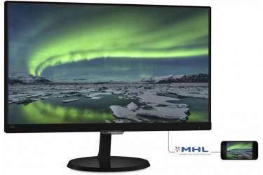 "Монитор Philips 21.5"" 227E7QDSB (00/01) черный IPS LED 16:9 DVI HDMI матовая 250cd 1920x1080 D-Sub FHD 2.95кг"