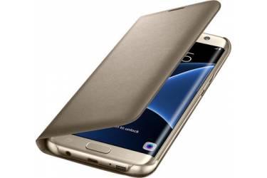 Оригинальный чехол Samsung G930 S7 Gold LED View