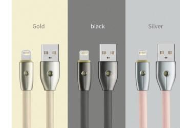 Кабель USB Remax RC-043i Iphone 5 плоский серебро
