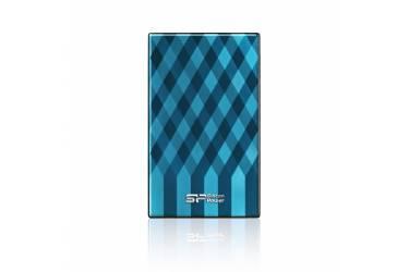 """Внешний жесткий диск 2.5"""" 1Tb Silicon Power Diamond D10 голубой USB 3.0"""