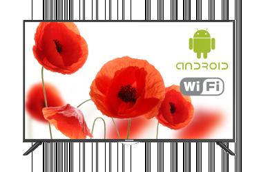 "Телевизор LED Telefunken 50"" TF-LED50S59T2SU черный/Ultra HD/50Hz/DVB-T2/DVB-C/DVB-S2/USB/WiFi/Smart TV (RUS)"