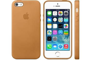 Оригинальный чехол кожа iPhone 5S Gold