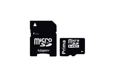 Карта памяти Prima MicroSDHC 16GB Class 10+adapter