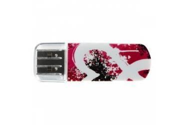 USB флэш-накопитель 8GB Verbatim Mini Graffiti Edition красный USB2.0