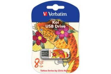 USB флэш-накопитель 8GB Verbatim Mini Tattoo Edition карп USB2.0