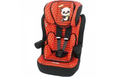 Автокресло детское Nania IMax SP (panda red) от 9 до 36 кг (1/2/3) красный/рисунок