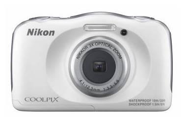 Цифровой фотоаппарат Nikon CoolPix S33 синий (+рюкзак)