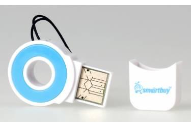 Картридер MicroSD Smartbuy голубой (SBR-708-B)