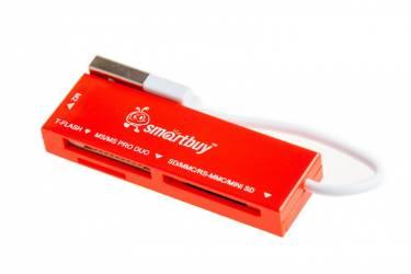 Картридер Smartbuy красный (SB58-R)