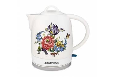 Чайник электрический Mercury Haus MC - 6742 1,7 л. 2000Вт керамика белая с рисунком