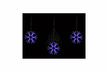 """Занавес светодиодный фигурный """"Снежинки-1"""" ULD-E1503-036/DTA BLUE IP20 SNOWFLAKES-1"""