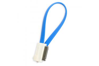 Кабель USB Smartbuy Apple 30-pin цветные 1,2 м, голубой