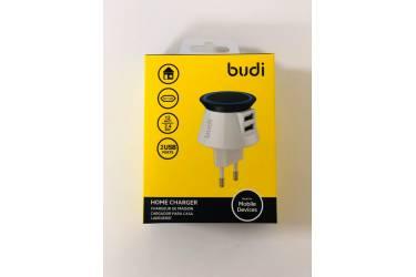 СЗУ адаптер Budi M8J305E 2 USB 12W 2.4A белый в уп.