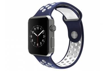 Ремешок Smart Apple Watch Nike 42 mm сине-белый (упаковка картон)
