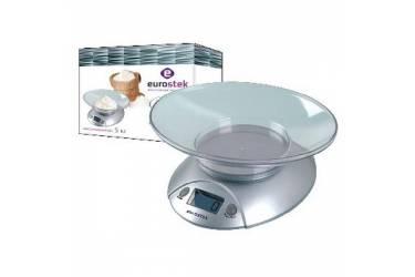 Весы кухонные электронные Eurostek ЕКS-5001 серебро 5кг чаша