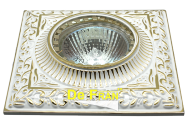 Светильник точечный_DE FRAN_ FT 1124 SG MR16 серебро с золотом