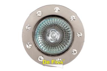 Светильник точечный_DE FRAN_ FT 192 SN MR16 сатин-никель со стразами