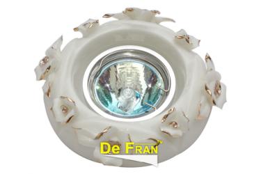 Светильник точечный_DE FRAN_ FT 417 MR16 керамика золото