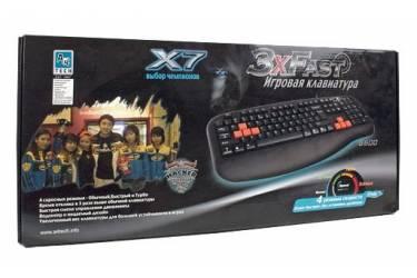 Клавиатура A4 X7-G600 черный PS/2 Gamer (подставка для запястий)