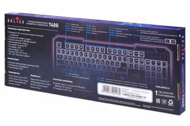 Клавиатура Oklick 740G STAR STRIKE белый USB Gamer LED
