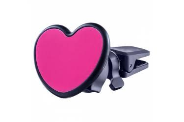 """Автодержатель Perfeo-518 Love для смартфона до 6,5""""/ на воздуховод/ магнитный/ черный+красный"""
