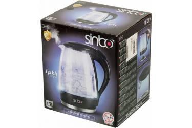 Чайник электрический Sinbo SK 7338B 1.7л. 2200Вт черный (корпус: стекло)