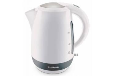 Чайник электрический Starwind SKP4621 1.7л. 2000Вт белый (корпус: пластик)